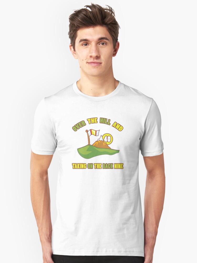 Funny 40th Birthday Golf Gift Unisex T-Shirt Front