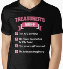 TREASURER'S WIFE Men's V-Neck T-Shirt