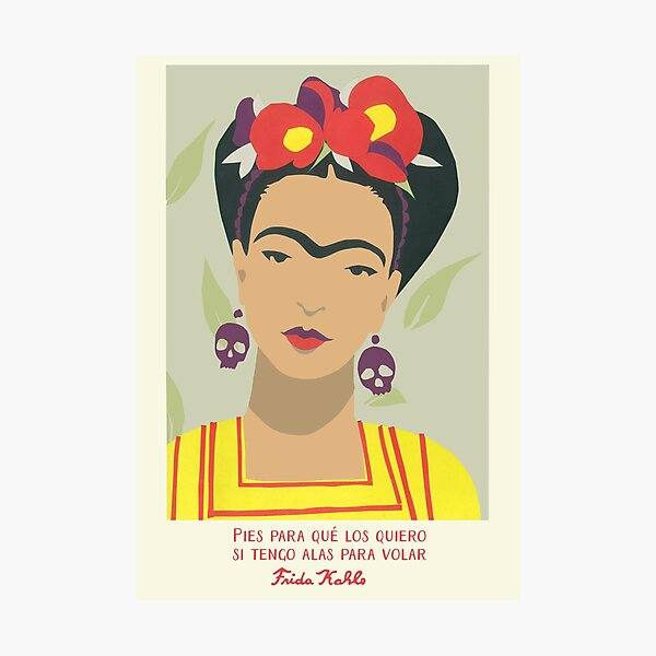 FRIDA KAHLO Mexican Feminist portrait painting Photographic Print
