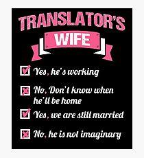 TRANSLATOR'S WIFE Photographic Print