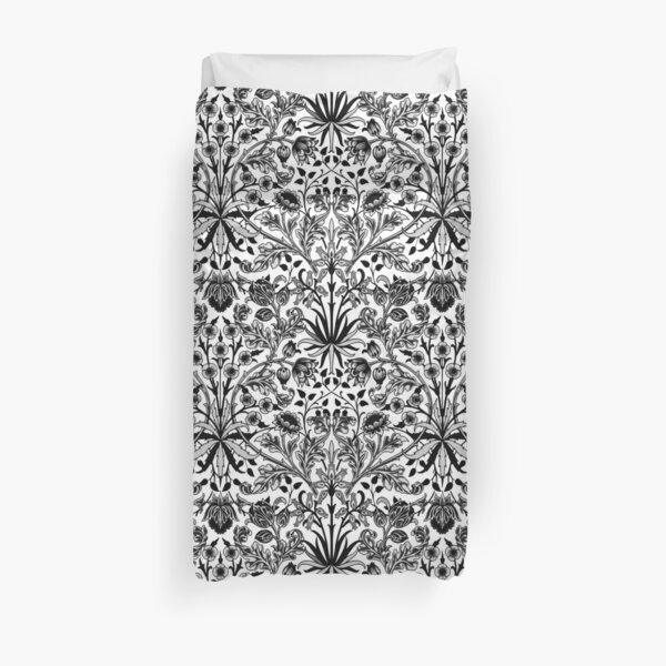 William Morris Hyacinth Print, Black, White & Gray   Duvet Cover