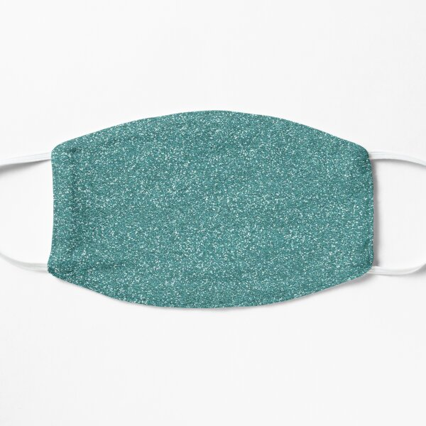 Teal Glitter Flat Mask