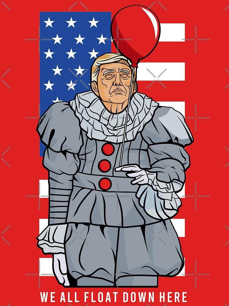 Scary Trump Clown by EnforcerDesigns