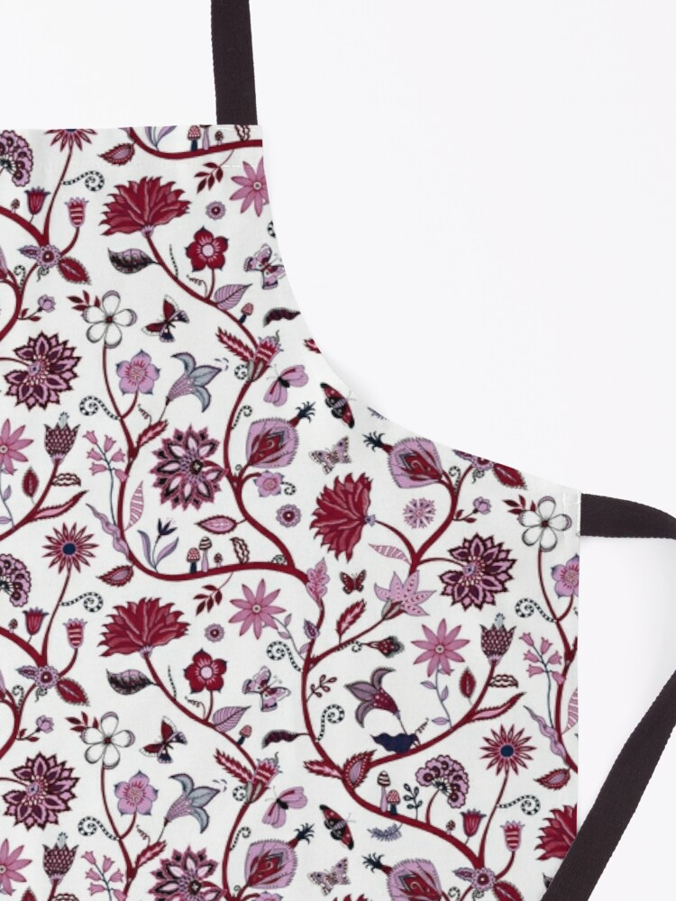 Alternate view of Fantasy Indian Floral - elegant, romantic pattern by Cecca Designs Apron