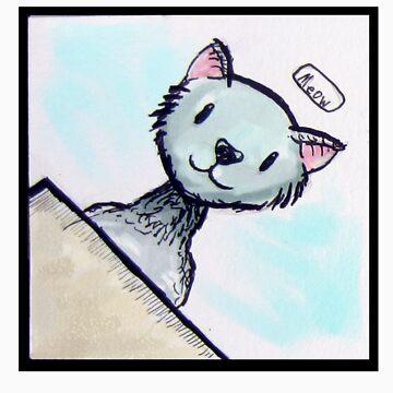 Meow Watercolor sticker by HeribertoM