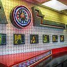 Neon Clock, Retro 50s-60s Burger King by Jane Neill-Hancock
