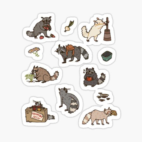Farmcore Raccoons Sticker