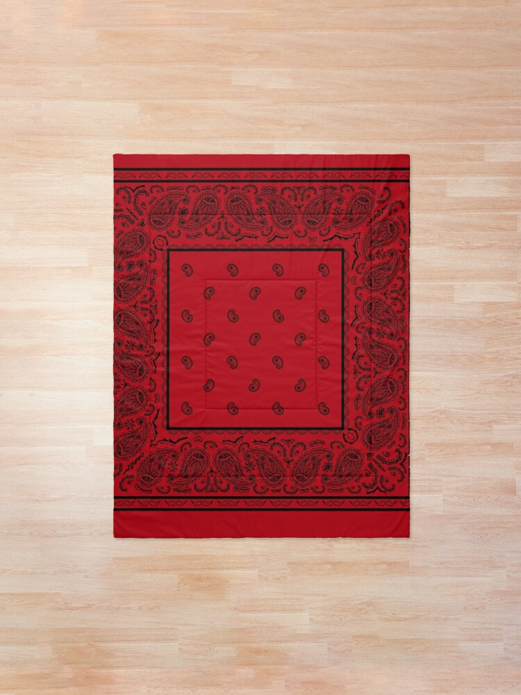 Alternate view of Red and Black Bandana Comforter