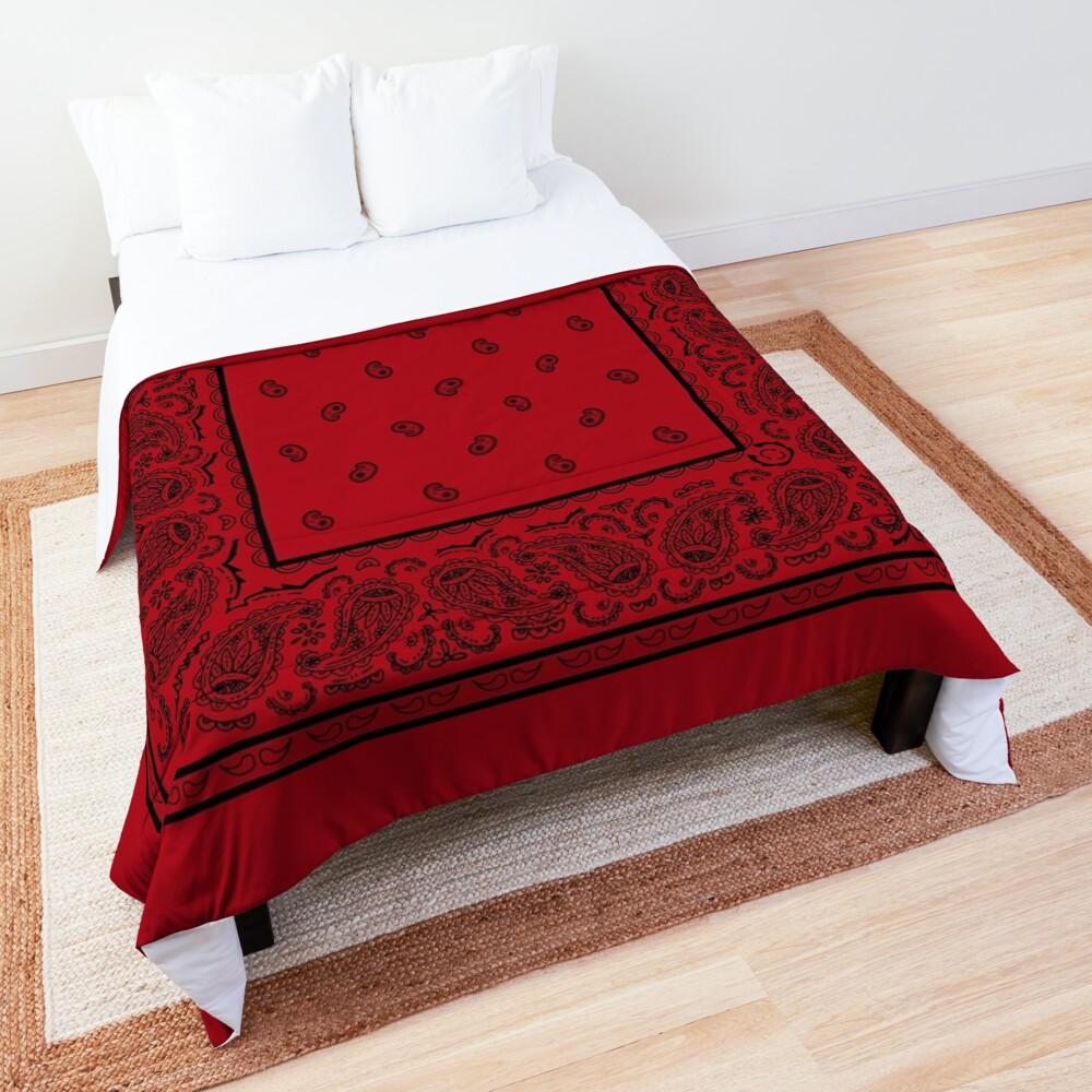 Red and Black Bandana Comforter
