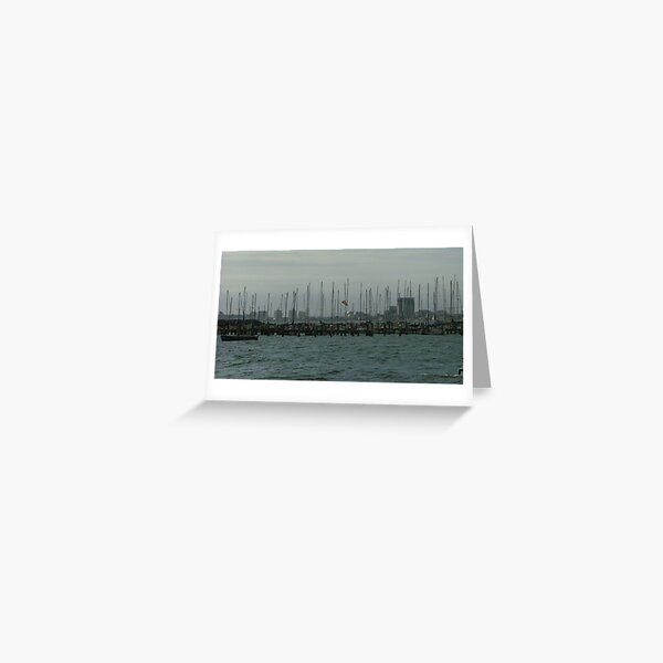 St Kilda marina Greeting Card
