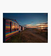 Hopeman Beach Huts Photographic Print