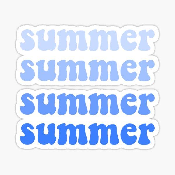 summer blue ombre Sticker