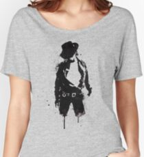 Michael Jackson ink Portrait Women's Relaxed Fit T-Shirt