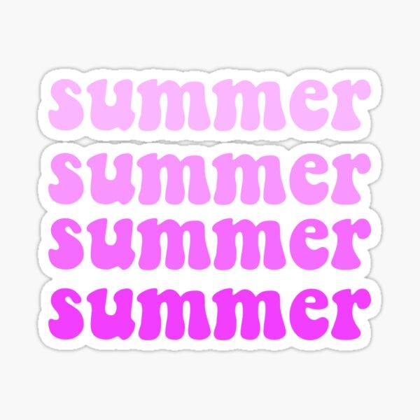summer purple ombre Sticker