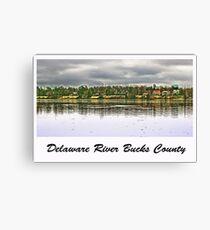 Delaware River Bucks County Canvas Print