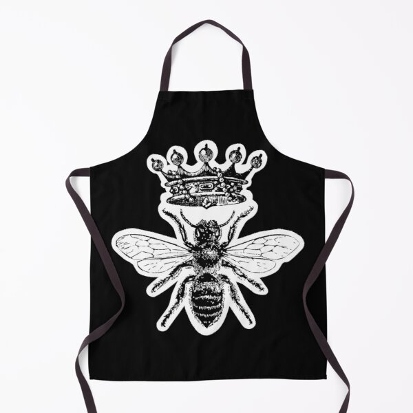 Queen Bee | Vintage Honey Bees | Black and White |  Apron