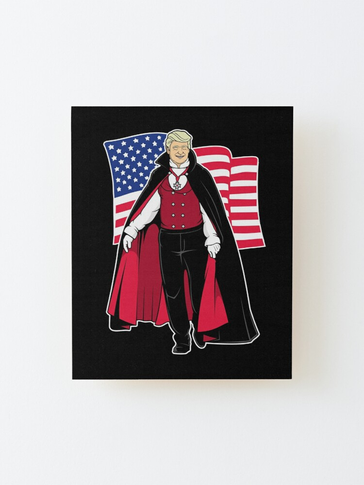 Alternate view of Horror Mashups: Trump Vampire Mounted Print