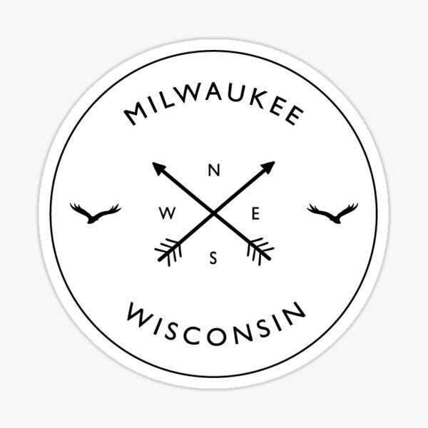 Milwaukee Wisconsin Compass Sticker