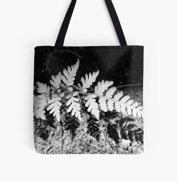 Shadow Fern All Over Print Tote Bag