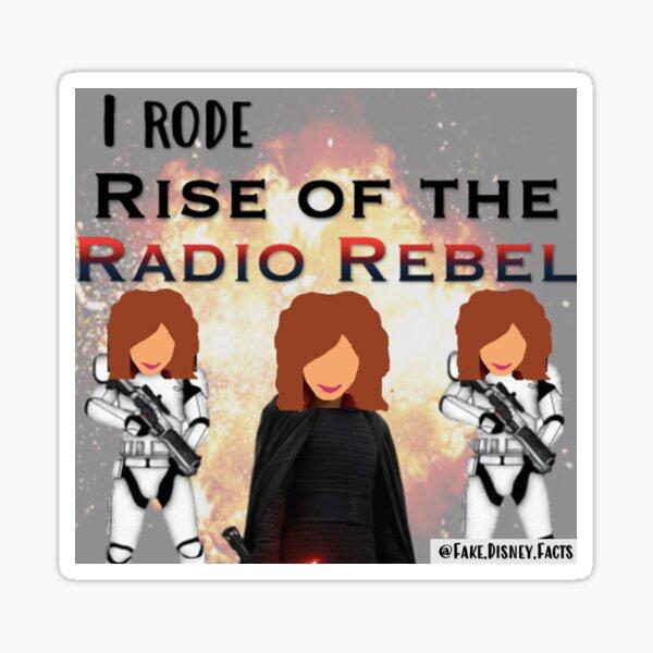 I Rode Rise of the Radio Rebel Pegatina