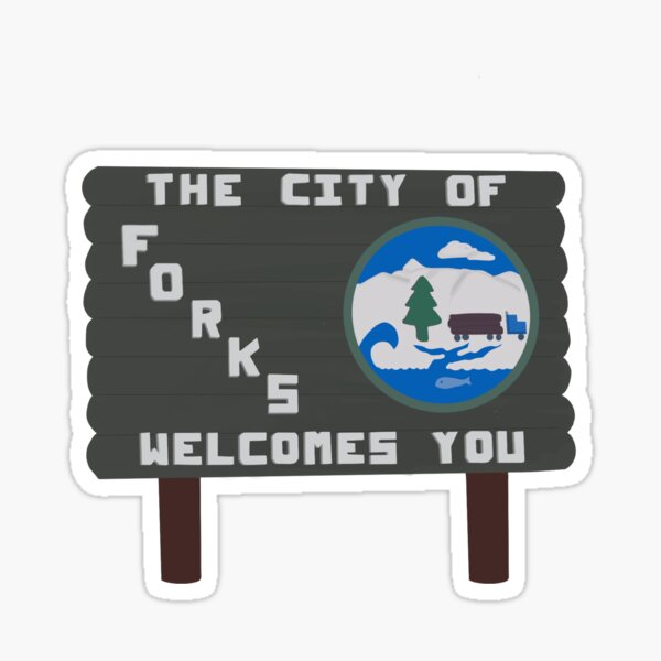 Forks, Washington sign  Sticker