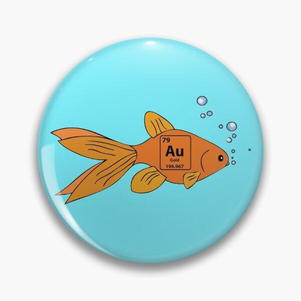 es un pez dorado! Chapa