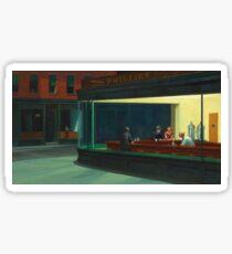 Vintage Edward Hopper Nighthawks Diner Sticker