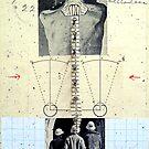 RETRATO DE 4 DESCONOCIDOS DANDO LA ESPALDA (portrait of 4 unknown group of persons with backs turned) by Alvaro Sánchez