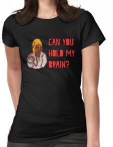 Can You Hold My Brain? (Ood) - Red Womens Fitted T-Shirt