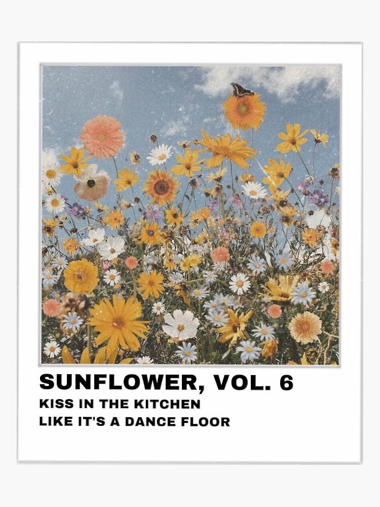 """Harry Styles Sunflower, Vol. 6 Polaroid"" Sticker by ..."