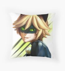 CHAT NOIR - MIRACULOUS LADYBUG Throw Pillow