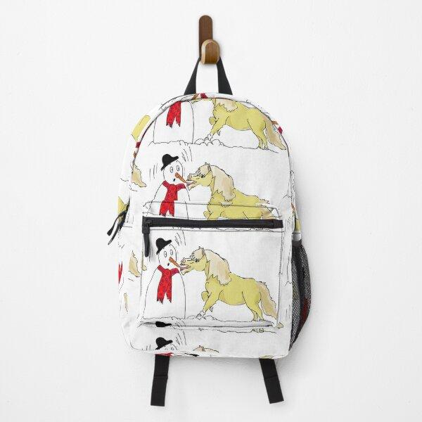 Shetland Pony & the Snowman  Backpack