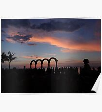tropical sunset - puesta del sol tropical Poster
