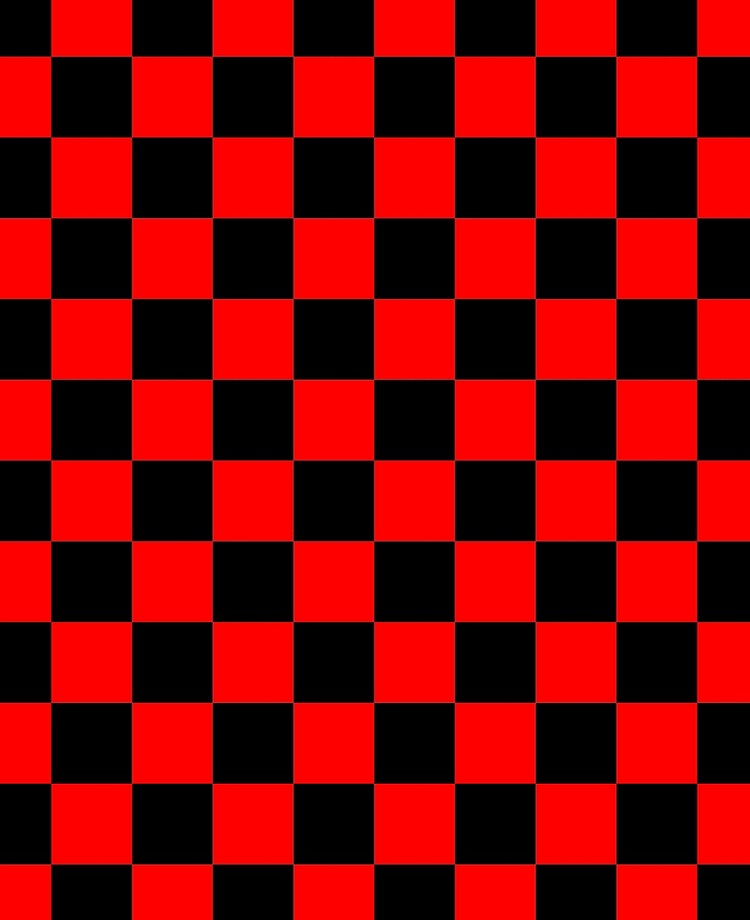Red and Black Checkerboard Pattern