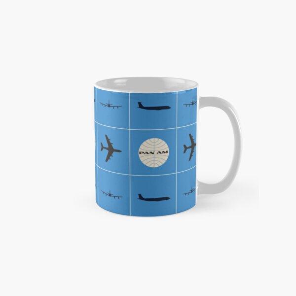 Pan Am Planes and Globe Square Pattern Classic Mug