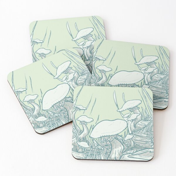 Mushrooms mushrooms mushrooms! Coasters (Set of 4)