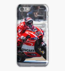 Andrea Dovizioso at laguna seca 2013 iPhone Case/Skin
