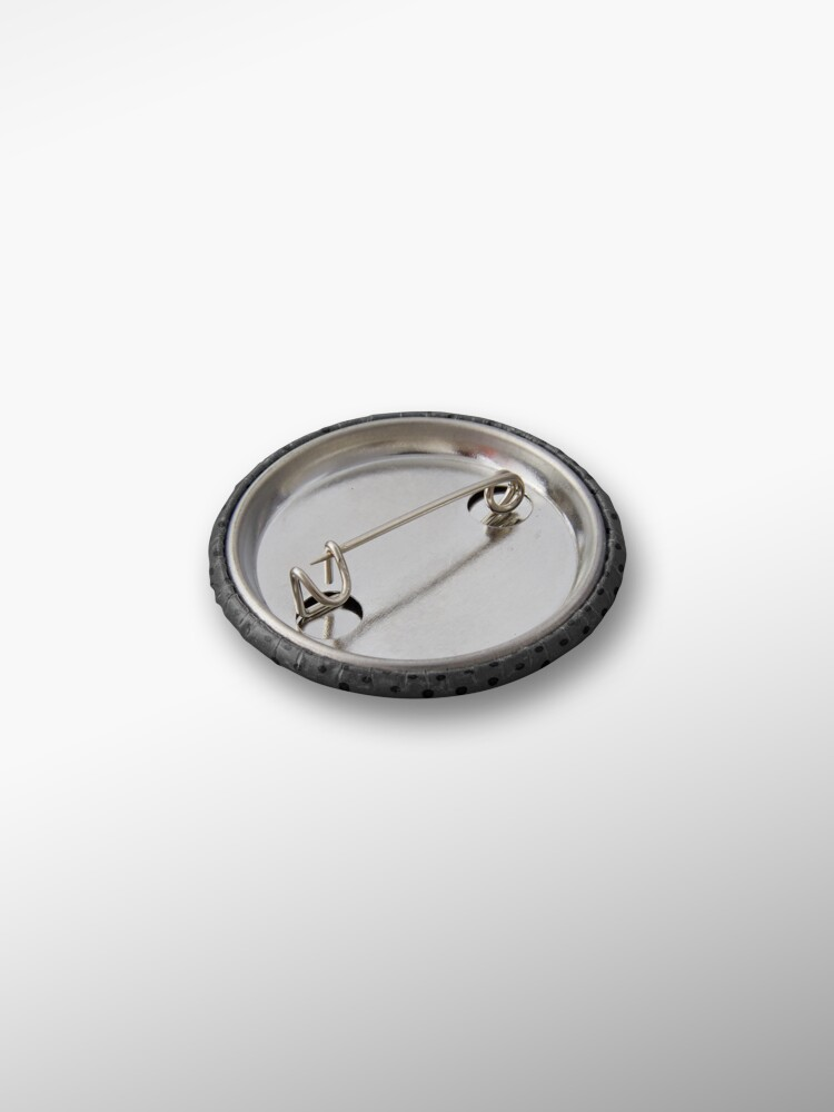 Alternate view of Dark Grey Black Rockabilly Pattern Pin