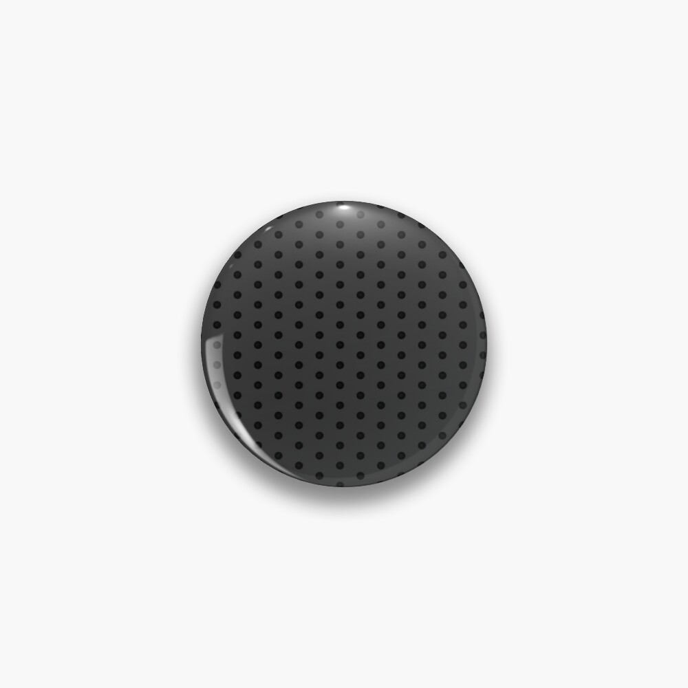 Dark Grey Black Rockabilly Pattern Pin