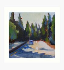 Highway 17 to Santa Cruz Art Print