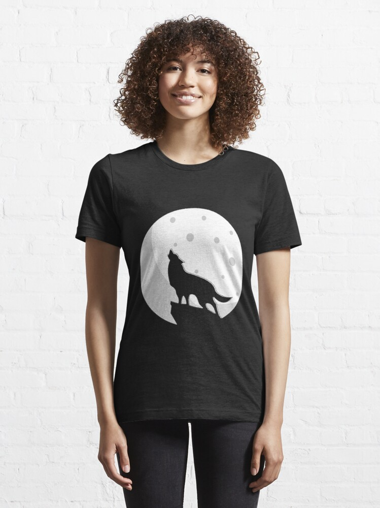 Alternate view of Howling Wolf -  Essential T-Shirt