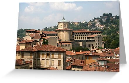 Rooftops of Bergamo by Segalili
