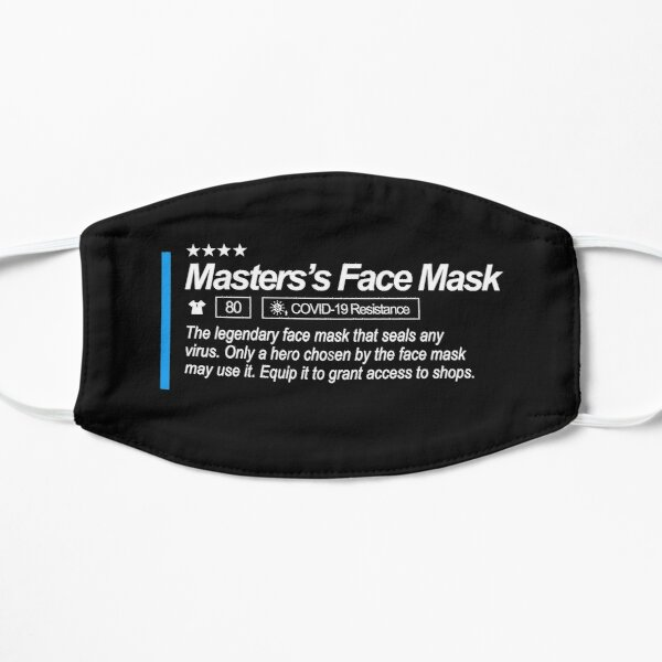 Gesichtsmaske des Meisters Spielergesichtsmaske Flache Maske
