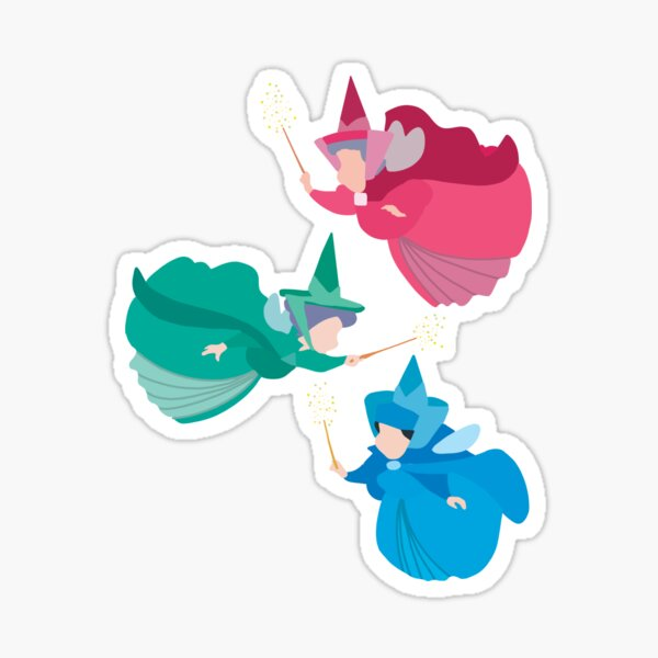 three good fairies  Sticker