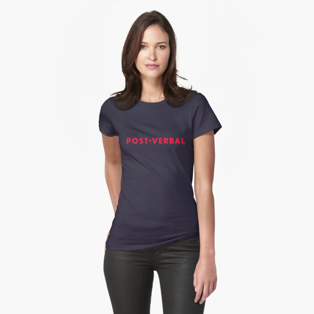 Post-Verbal Fitted T-Shirt