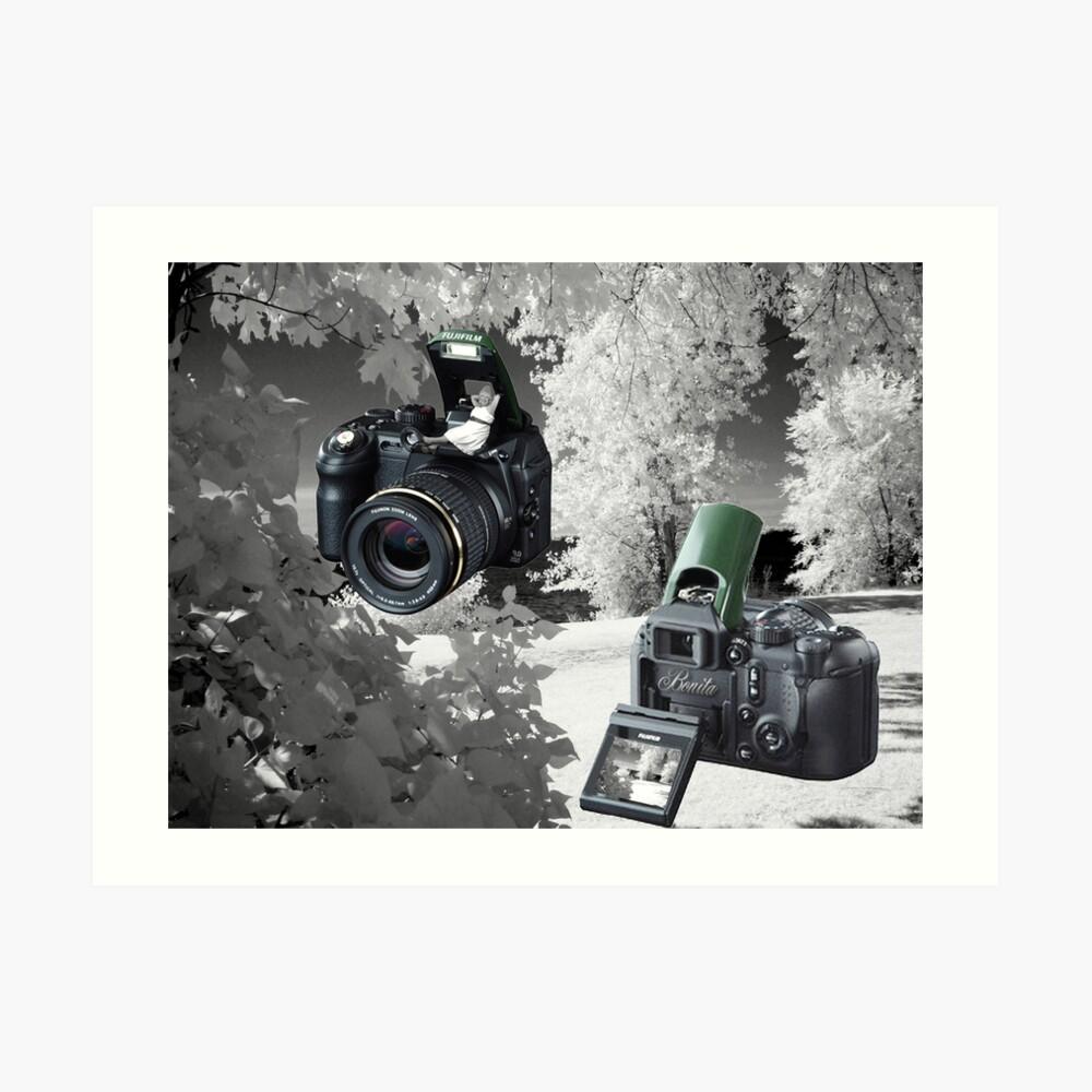 ☀ ツMY FUGIFILM Is-1 INFRARED CAMERA INSIDE,PICTURE TAKEN WITH THE INFRARED CAMERA ☀ ツ Kunstdruck