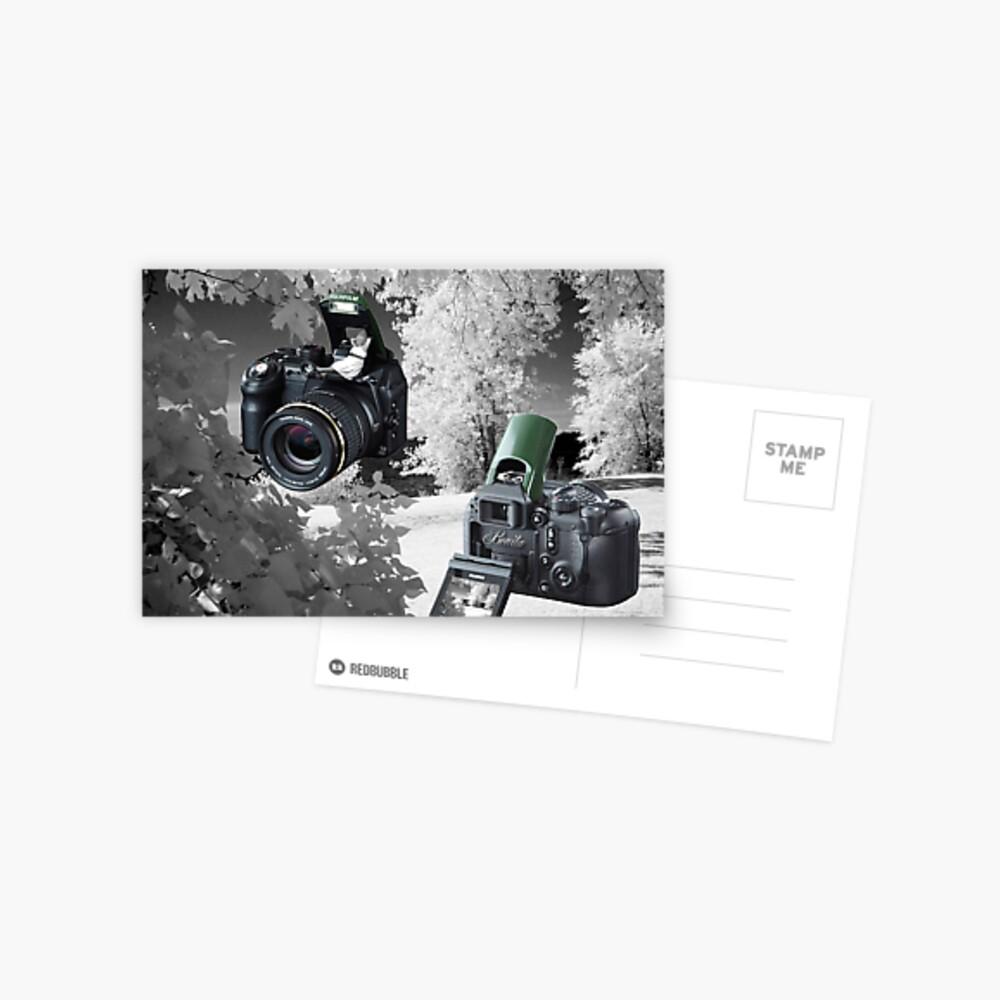 ☀ ツMY FUGIFILM Is-1 INFRARED CAMERA INSIDE,PICTURE TAKEN WITH THE INFRARED CAMERA ☀ ツ Postkarte