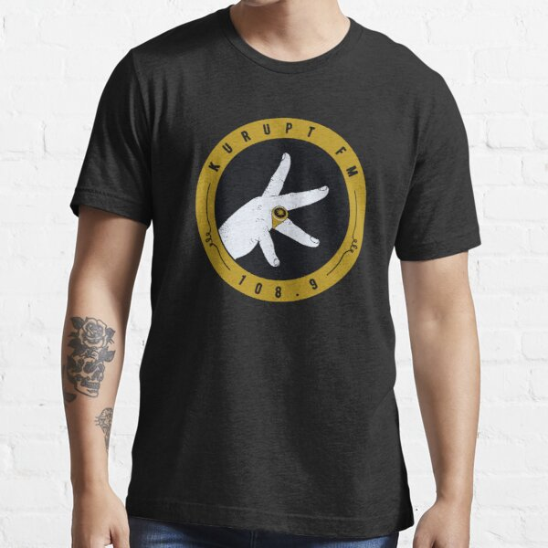Kurupt Fm logo as seen on People just do nothing Essential T-Shirt