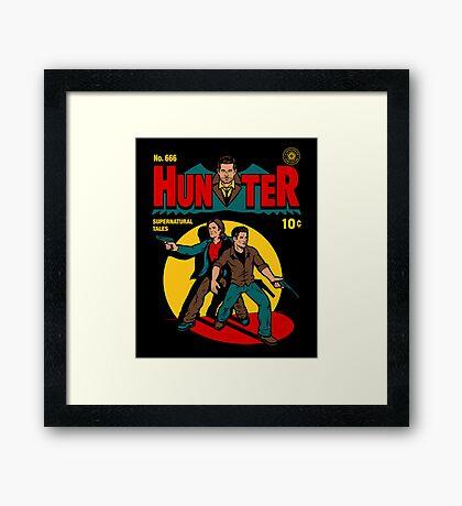 Hunter Comic Framed Print