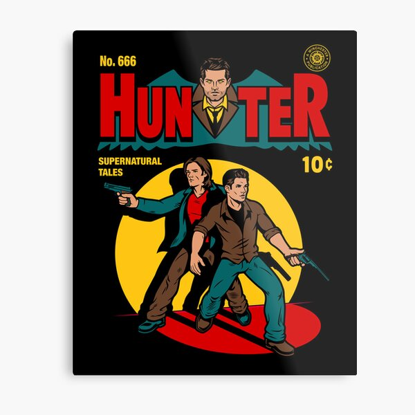 Hunter Comic Metal Print
